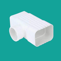 High quality cheap 90mm pvc pipe fittings pvc rain gutter square equal tee
