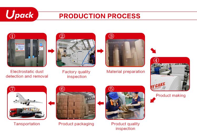 Personalizado Impresso Marrom Kraft de Compras Saco de Papel Com Alças