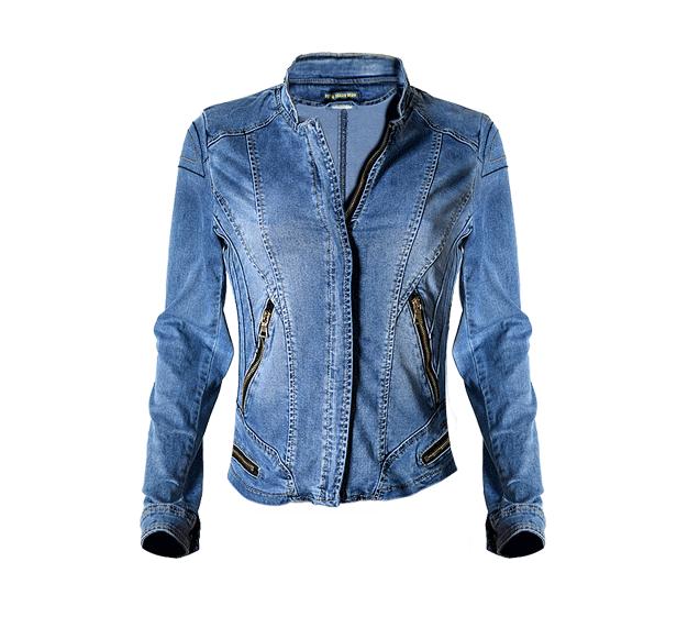 Beliebte Damen Baseball Jeans jacke Stretchy Multi-Zipper Motorrad Style Damen Jeans Jacke