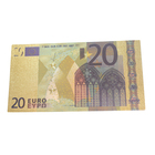 Wedding Return Gifts Christmas Decoration And Wedding Return Gifts Waterproof Plastic 20 Euro Gold Foil Banknotes