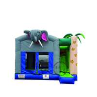 Backyard used small bouncer inflatable elephant jumping house