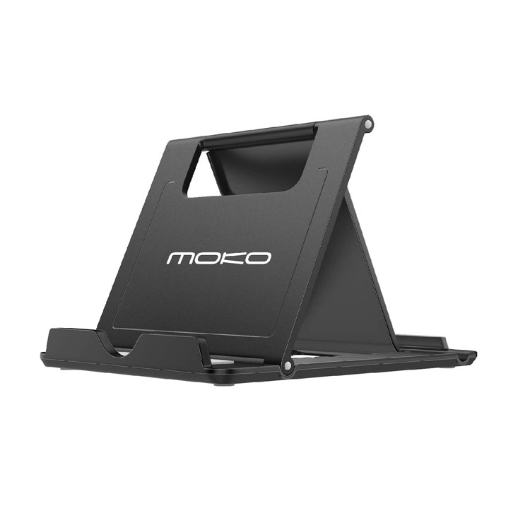 MoKo Foldable Desktop Holder Phone/Tablet Stand for 6-12.9 inch devices for iPad Air 4 10.9/iPhone 11 Pro