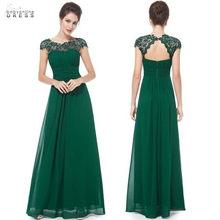 Реальные изображения зеленое кружевное платье подружки невесты Длинного размера плюс 2020 сексуальное платье с открытой спиной de soirée de mariage ...(Китай)
