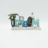 2020 new product handmade gift craft supply coastal souvenir Wholesale Decorative Dream Word sign Resin Beach Decor