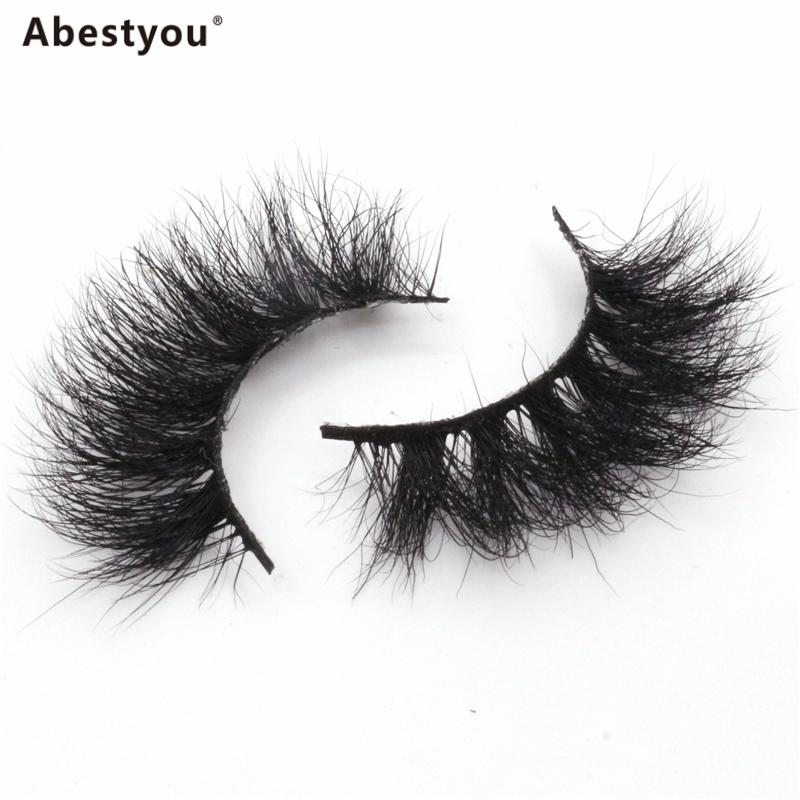 Abestyou 18mm Mink Eyelashes Vendor 5D Customized Logo Mink Fur Handmade Lashes Real Mink Lashes