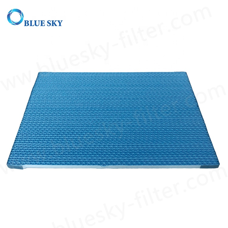 Customized Blue 5mm Aperture 380X280X10mm Panel Replacement Humidifier Wick Filters