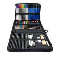 professional assorted 72pieces Kit Sketch Pencils and Colored Pencils Art Set drawing pencil for artsist