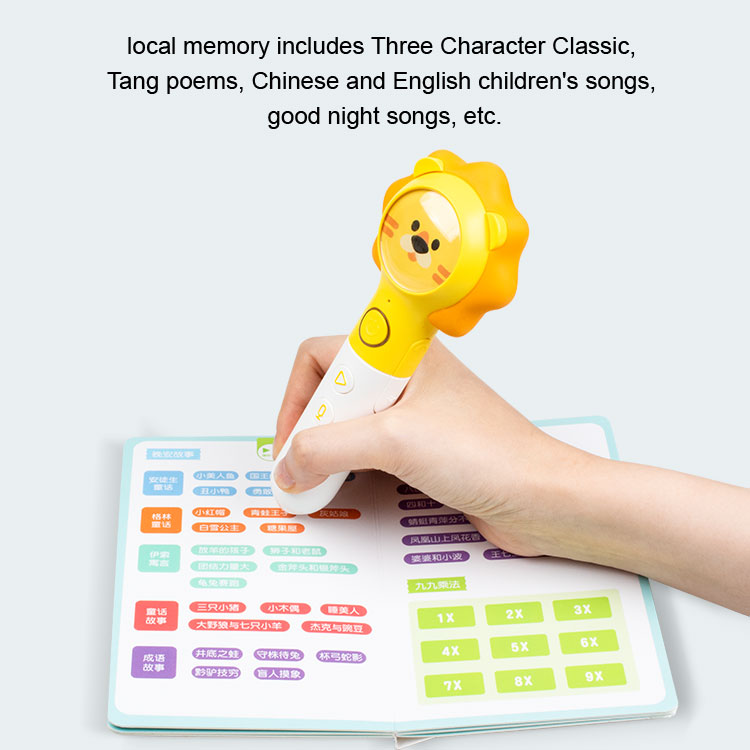 multifunction learning machine reading pen with talking pen book