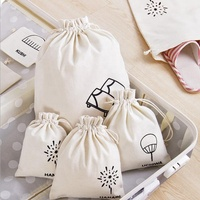 Wholesale cotton fabric drawstring jewelry bag for packing