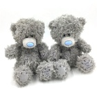 Personalized Wholesale oem Love Gray soft stuffed plush toy mascot animal beggar Patch teddy bear
