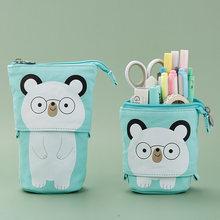 Гибкий большой чехол для карандашей, качественные школьные принадлежности, сумка для карандашей, канцелярский подарок, школьная Милая коро...(Китай)