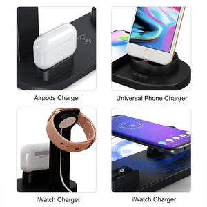 4 in 1 QI Fast Wireless Charging Stand Phone Holder Compatible With Most Smartphones