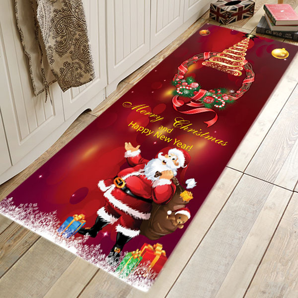 פלנל חדר דלת מחצלת תרמית העברת חג המולד יום מטבח אמבטיה סופגת שטיח מחצלות
