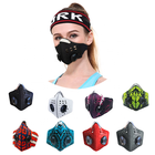 fashion custom smog pm2.5 air filter motorcycle biker half face motorbike riding mask