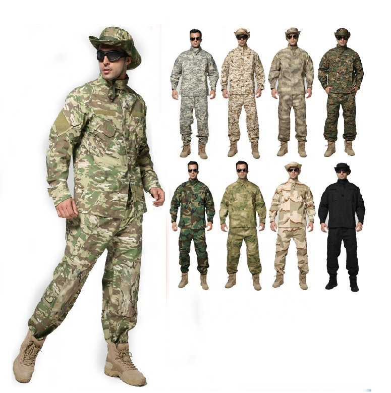 OEM Factory ACU BDU American Army Military Rip Stop Polyester Cotton CS Games Suit Camouflage Military Uniform