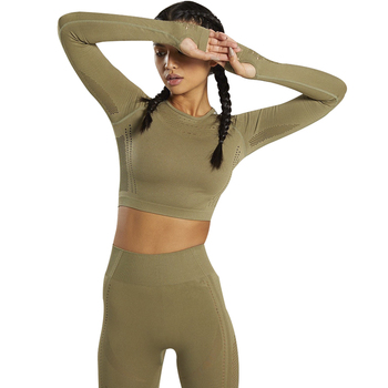 Women's Sportswear suit Seamless Gym Clothing Women Gym Yoga Set Fitness Leggings+Cropped shirts Workout Sets Tracksuit Outfits