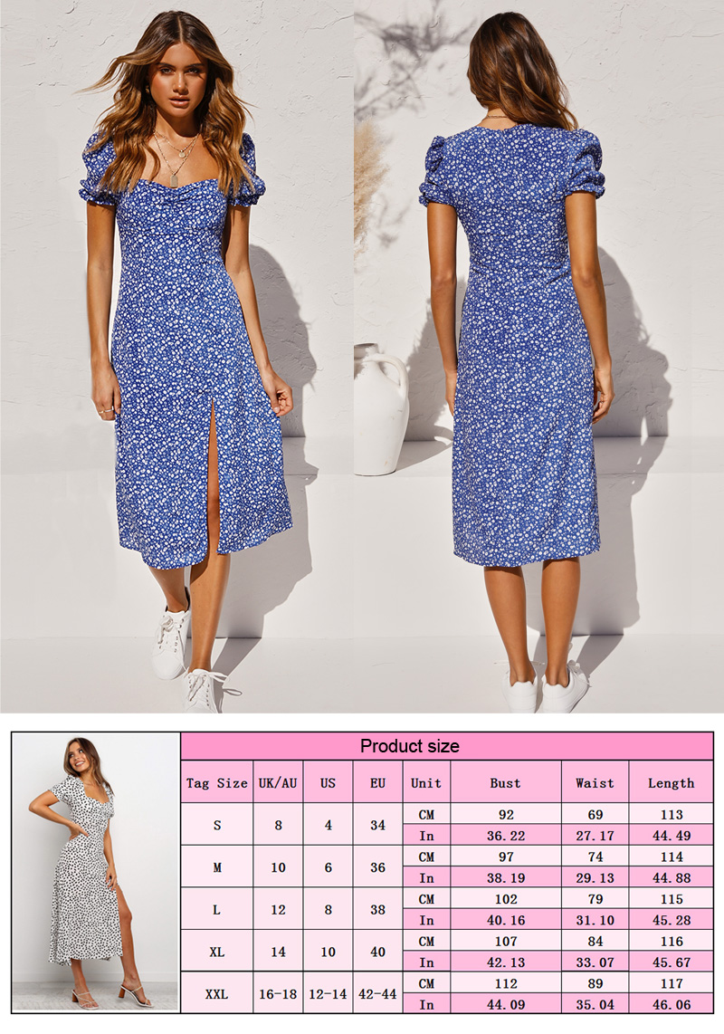 women's spring and summer bubble short sleeve women lady elegant sexy slim floral dresses  casual