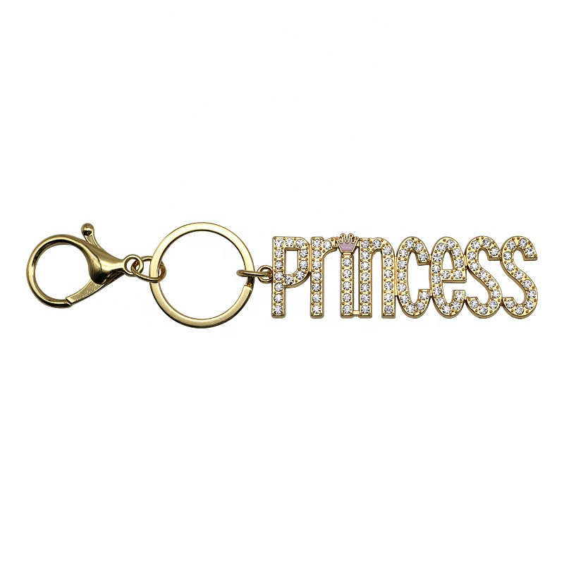 Wholesale New Design Metal Owl Key Ring Engraved Metal Alloy Word Key Chain For Fashion Women&Girls Bags