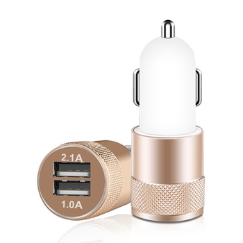 New arrival mini car charger dual usb car charger quick charge