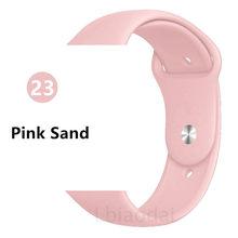 Ремешок для Apple Watch 4 3 2 1 силиконовый ремешок iwatch Браслет Apple Watch 4 3 2 1 pulseira apple watch correa ремешок для часов(Китай)