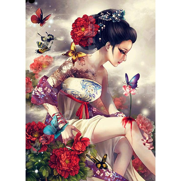 S-114 Chinese Handpainted Custom Girl Wall Art Vivid <strong>Pictures</strong> on Wood