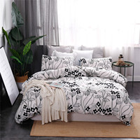 Wholesale Duvet Cover Customize Home Textile America Style Polyester 3 Pieces Bed Sheet Set