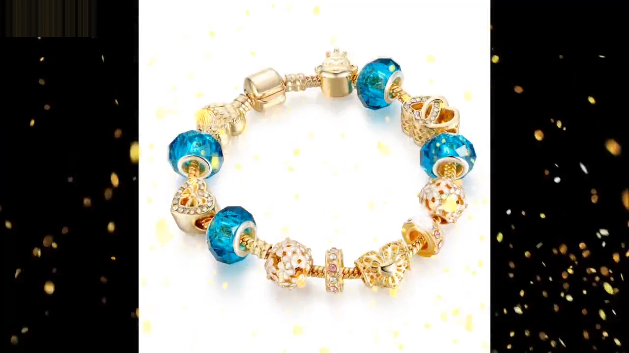 DIY Macroporous beads Golden Valentine's Day present women bracelet