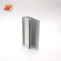 Wardrobe hanging hanger rail profile parts Anodized for furniture for c and u channel Sliding Door Window Aluminum