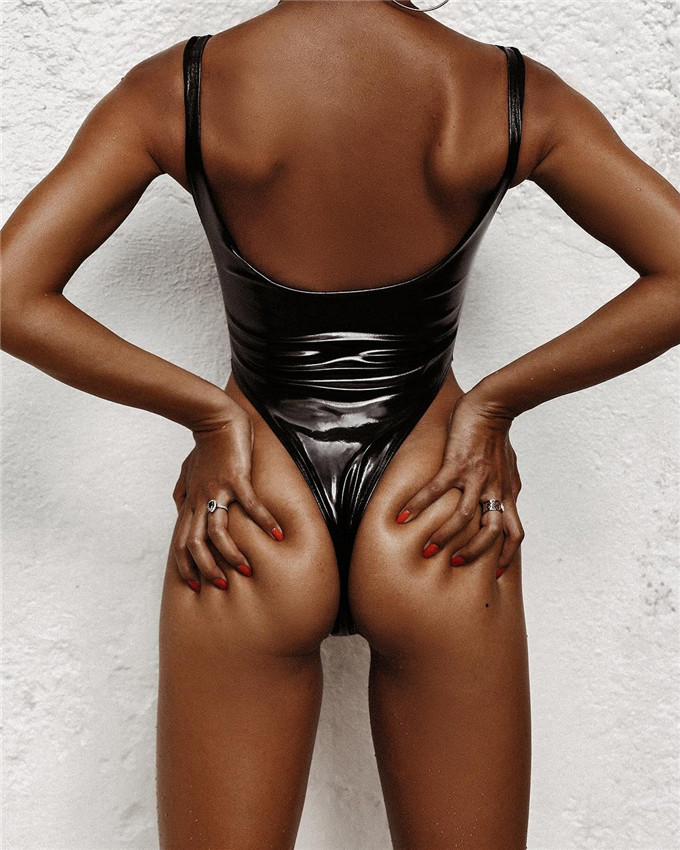 <strong>New</strong> Products 2019 High Cut Swimwear <strong>Sexy</strong> <strong>Bikini</strong> Scoop Neck Swimsuit One Piece <strong>Bikini</strong> Girl <strong>Sexy</strong> Black Leather Thong <strong>Bikini</strong>