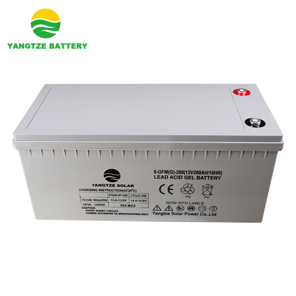 Yangtze 2019 Free shipping Top sale solar gel battery 12v 200ah