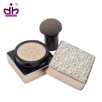 Air cushion BB cream foundation compact case with makeup sponge