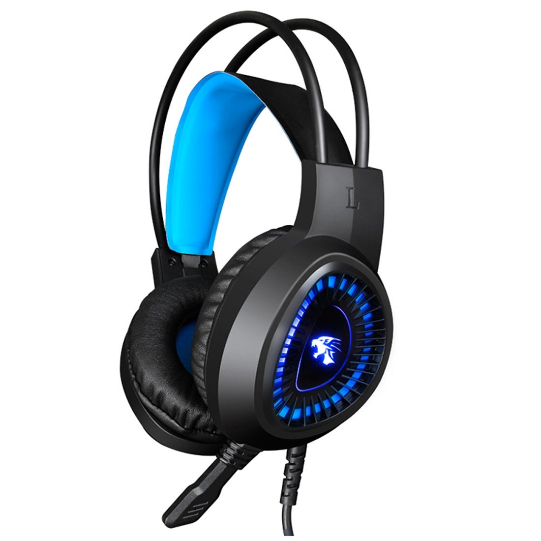 HAMTOD <strong>V1000</strong> New PC Wired Gamer Headphones With Light Gaming Headset PS4 (Blue)