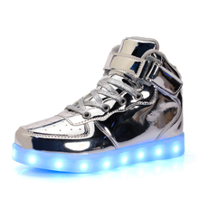 Unisex (high) 저 (top flashing led 빛 업 밤 running led shoes multi color 변경 led 빛 shoes