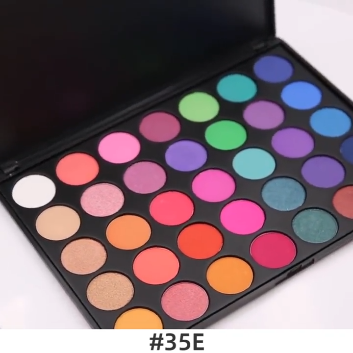 Eyeshadow Palette Cosmetic Makeup 35 Color Glitter Waterproof  Metallic  Eye