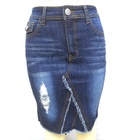 ripped denim skirt female summer 2019 new skirt high waist a word skirt