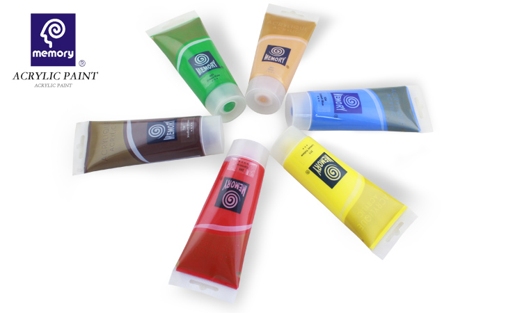 China Hot Sell Basics Acrylic Color Paints 500Ml/750Ml /6 Pack Paint Strips ( 3Ml - .1 Oz)