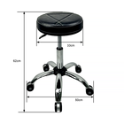 Salon Furniture Hot Sale Salon Furniture Leather And Rubber Lifting Round Stool Work Office Chair