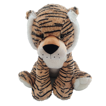 High Quality Custom 50cm Sitting Cartoon Tiger Leopard Plush Christmas Decoration Tiger Toy for Kids