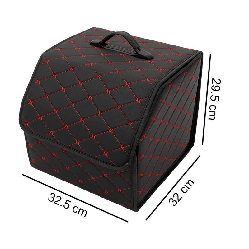 Коробка-органайзер в автомобиль, сумка для хранения Авто, сумка для мусора, сумка для инструментов, Складывающийся груз из искусственной ко...(Китай)