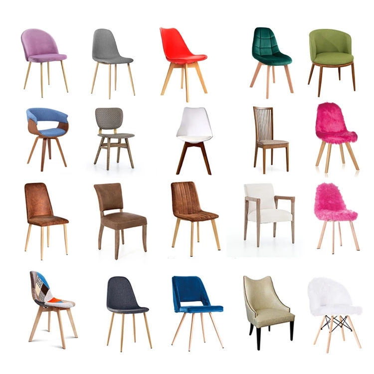 Many Colors Velvet Crushed Restaurant Room Fabric Dining Chair for Dining Room Hotel Modern