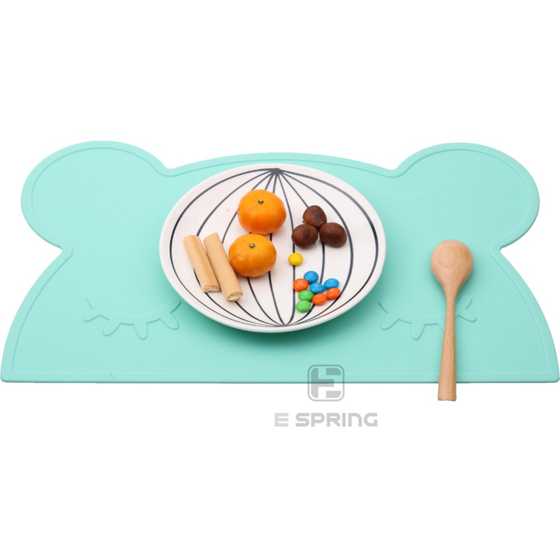 Promotional Various Durable Using Customized Shape Silicone Placemat Plate Baby