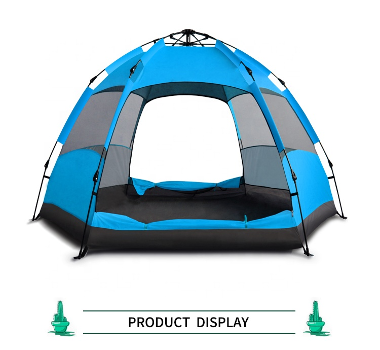 Double layers Family 5-8 person Automatic Screen camping dome tent