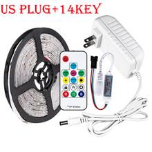 1-5 м 30/60 светодиодный s/M 2811 Светодиодная лента Водонепроницаемая кухня под освещение для шкафов 5050 RGB DC 12V tv PC светодиодный светильник с подсв...(Китай)