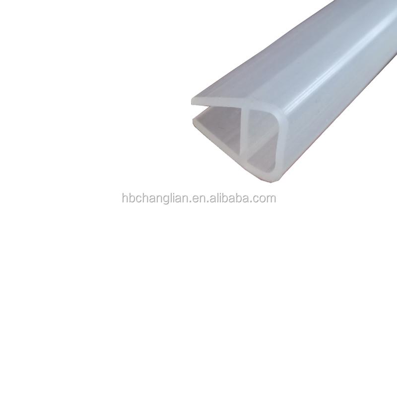 clear glass shower door rubber seal strip