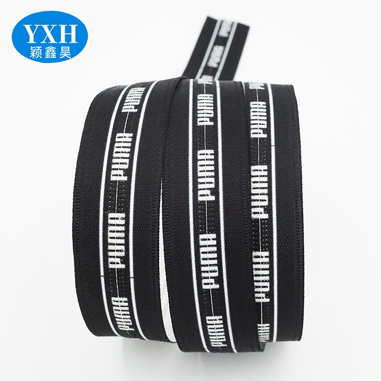 Custom 5# 8# sports clothing nylon printing zipper print letters long chain zipper roll