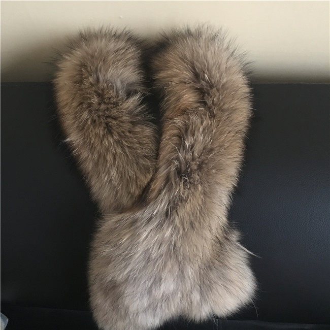 Quality Raccoon Fur Collar Winter real Fur collar