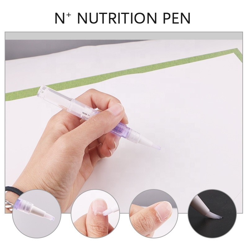 OEM peach pineapple strawberry pink manicure flower twist brush nail repair tool cuticle removal oil pen