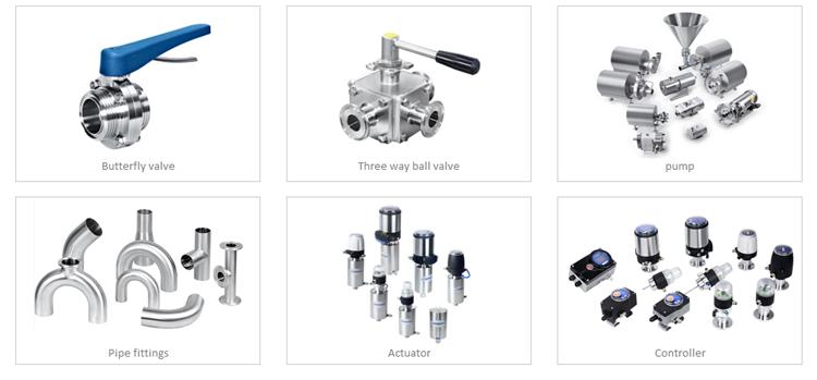 Sanitary stainless steel diaphragm sample valve 316L mini diaphragm valve