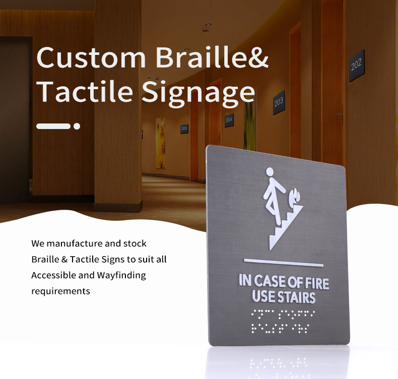 soild engraved and etched Stainless Steel plate for external and internal sign