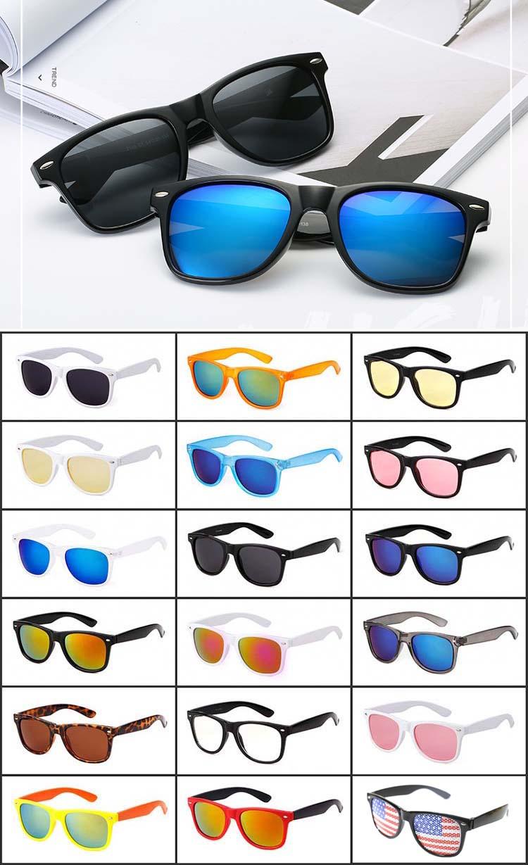 Wenzhou Classic UV400 CE FDA sunglasses OEM Customize Pc Sun glasses plastic sunglasses